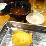 67852135 - 半熟たまごの天ぷら(天つゆ&藻塩付き)