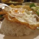 マンゴツリーカフェ - ジャスミンライス+目玉焼きアップ