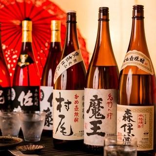 食通も唸る日本酒と焼酎の品揃え!!