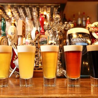 20種類以上の多彩なクラフトビール