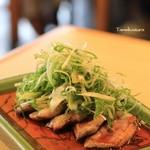 角平 - 料理写真:3時からの一品 鴨と九条ネギ
