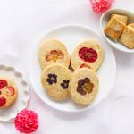 コチト ハナトオカシト - カモミール/花びらピーナッツバターサンドクッキー/ハナサブレ(くるみ)/ハナサブレ(プレーン)/塩麹