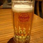 首里 - オリオン生(ちょっと飲みかけ・・・)