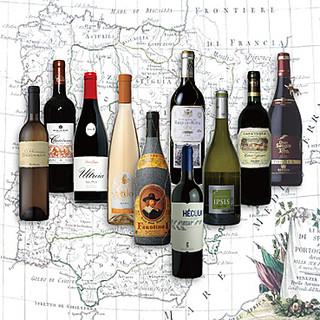 スペイン各地のこだわりのワインをお楽しみください。