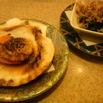平禄寿司 - ほたてバター焼き+ほうれんそう