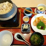 日本料理 華の縁 - 鯛茶御膳 全体
