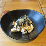 渋谷 道玄坂 肉寿司 - クリームチーズ溜り醤油和え