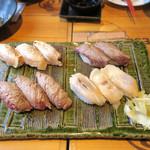 渋谷 道玄坂 肉寿司 - 炙り肉盛り