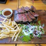 渋谷 道玄坂 肉寿司 - 今宵のステーキは牛ランプ