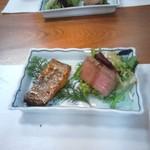 67868278 - 松阪牛と太刀魚バター醤油。