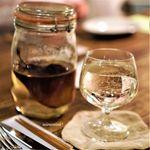 食堂くしま - 自家製洋梨のお酒のソーダ割り