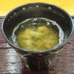 蓮池 丸万寿司 - にぎりすし 竹[味噌汁](2017/05/29撮影)