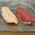 蓮池 丸万寿司 - 料理写真:にぎりすし 竹[白身、赤身](2017/05/29撮影)