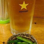 大衆酒場 亀屋 - 生ビールと枝豆