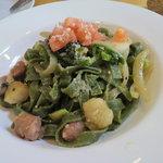 6788503 - サルシッチャと季節野菜のフェットチーネ