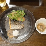 銀蔵 - サワラ塩麹焼+小鉢