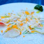 オランジェ - 愛媛産 真鯛のアルゼンチン風カルパッチョ