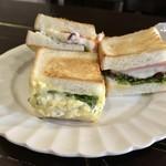 宮田屋珈琲レンガ館 Cafe - パンはトーストしていただきました。