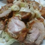 龍記 - 揚げ鶏のねぎソースかけ。