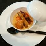ケーヨシダ - 料理写真:アミューズ 新タマネギのムース