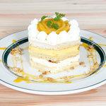 カフェ&パンケーキ gram - マンゴーのレアチーズケーキ風パンケーキ