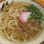 東筑軒 - 料理写真:かしわうどん 360円 (2017.5)