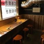 広島焼き どんき - 窓際カウンター8席