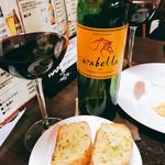 ダイニング クム - 赤ワインとガーリックトースト