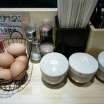 麺屋 龍 - ゆで卵お一つサービス