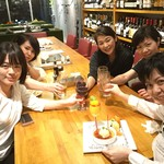 石垣牛と島料理 佐々木勝 - 常連さんが誕生祝をしに来てくれました☆彡