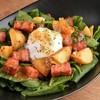 * 温泉卵と法蓮草のジャーマンサラダ