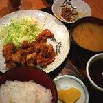 庄や - 唐揚げ定食(納豆チョイス)