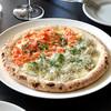 カフェ ビタースイート - 料理写真:釜揚げシラスと桜エビのピザ ¥1,343〔税込¥1,450〕:大人気メニューです。焼きたてのピザから漂う磯の香り、たっぷり乗せたシラスと桜エビの旨味、そして味わいの違いをぜひお楽しみ下さい!