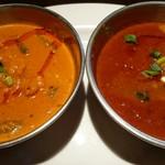 和印道 - 野菜カレー・マトンカレー。