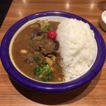 エチオピアカリーキッチン - チキン + 野菜カリー(全大盛)(斜め上から)