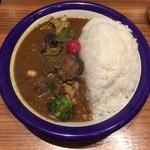 エチオピアカリーキッチン - チキン + 野菜カリー(全大盛)(上から)
