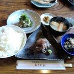 地魚料理 おくむら - 地魚料理 おくむら @佐島 鰯刺身と鯵なめろう2品定食 1,050円
