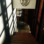 67920351 - 地下の店内への階段