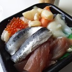 宮崎 丼丸 - 海鮮丼ネタ大盛り760円
