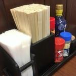 丸亀製麺 - 卓上装備