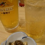 味久 - ビール、梅酒サワー