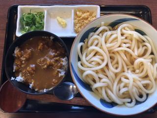 TOKYO都庁議事堂レストラン - ミニカレー丼セット(うどん) ¥780