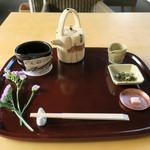 廚菓子くろぎ - 珈琲も和のセットで〜♬
