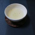 廚菓子くろぎ - ・・と銀杏緑茶〜♬