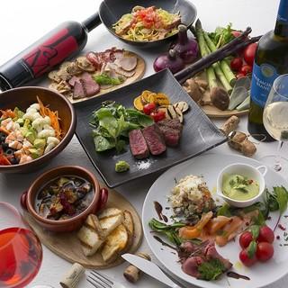 5年後のカラダもスマートに。肉、魚、野菜、充実のコース料理