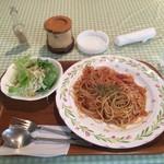 りんどう - 料理写真:アラビアータスパゲティ ¥800