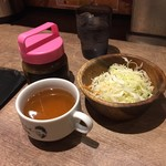 1ポンドのステーキハンバーグ タケル 西中島店 - ライスセット(280円)