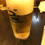 元祖 うな鐡 - 生ビール570円