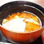 美音 - ビーフシチュー 1000円 の味噌汁