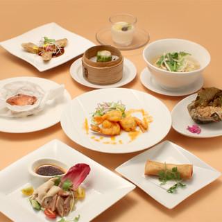 今月の調理長おすすめ【レリアコース】。新しい中国料理の世界を